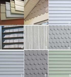 nine types of siding vinyl aluminum cedar wood cement