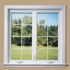 window panes crank out window, white woodwork